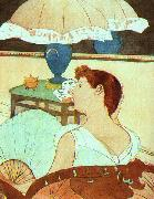 Mary Cassatt The Lamp oil painting reproduction