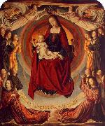 Master of Moulins Coronation of the Virgin oil painting