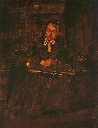 Mihaly Munkacsy Seated Old Woman oil painting reproduction