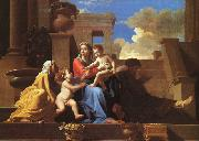 Nicolas Poussin Holy Family on the Steps oil painting reproduction