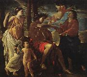 Nicolas Poussin Inspiration of the Poet oil painting
