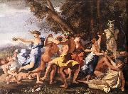 Nicolas Poussin Bacchanal before a Statue of Pan oil painting
