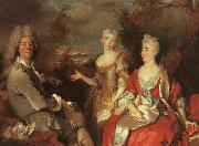 Nicolas de Largilliere Family Portrait oil painting