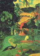 Paul Gauguin Landscape with Peacocks oil painting reproduction