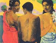 Paul Gauguin Three Tahitians oil painting