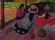 Paul Gauguin Afternoon Rest, Siesta oil painting
