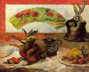 Paul Gauguin Still Life with Fan oil painting