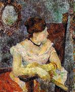 Paul Gauguin Madame Mette Gauguin in Evening Dress oil painting