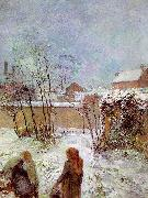 Paul Gauguin The Garden in Winter, rue Carcel oil painting