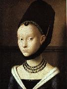 Petrus Christus Portrait of a Young Woman oil painting