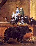 Pietro Longhi Exhibition of a Rhinoceros at Venice oil painting reproduction