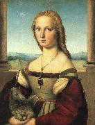 Raphael The Woman with the Unicorn oil painting