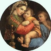 Raphael THE MADONNA OF THE CHAIR or Madonna della Sedia oil painting reproduction