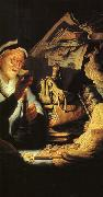 Rembrandt The Rich Old Man from the Parable oil painting