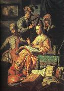 Rembrandt The Music Party oil painting reproduction