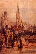 Richard Parkes Bonington Rouen from the Quais oil painting