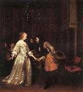 TERBORCH, Gerard The Dancing Couple rt oil painting