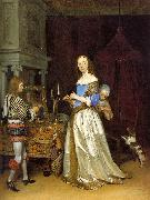 TERBORCH, Gerard Lady at her Toilette atf oil painting