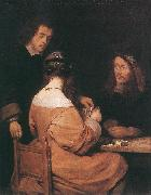 TERBORCH, Gerard Card-Players awr oil painting