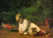 Thomas Eakins Baby at Play oil painting reproduction
