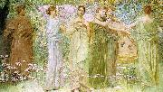 Thomas Wilmer Dewing The Days oil painting reproduction