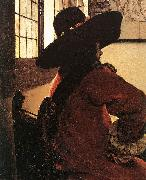 VERMEER VAN DELFT, Jan Officer with a Laughing Girl (detail)  jhg oil painting