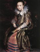 VOS, Cornelis de Elisabeth (or Cornelia) Vekemans as a Young Girl re oil painting reproduction