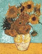 Vincent Van Gogh Vase with Twelve Sunflowers oil painting reproduction
