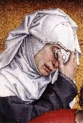 WEYDEN, Rogier van der Deposition (detail) oil painting