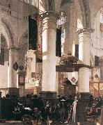 WITTE, Emanuel de Interior of a Church oil painting