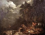 WRIGHT, Joseph Earthstopper at the Bank of Derwent qr oil painting