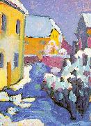 Wassily Kandinsky Cemetery and Vicarage in Kochel oil painting