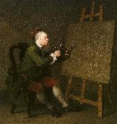 William Hogarth Self Portrait at the Easel oil painting