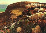 William Holman Hunt On English Coasts oil painting