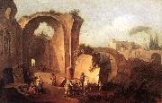 ZAIS, Giuseppe Landscape with Ruins and Archway oil painting