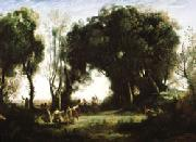 camille corot A Morning; Dance of the Nymphs(Salon of 1850-1851) oil painting