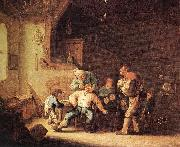 OSTADE, Adriaen Jansz. van Barber Extracting of Tooth sg oil painting
