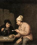 OSTADE, Adriaen Jansz. van Piping and Drinking in the Tavern ag oil painting reproduction