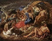POUSSIN, Nicolas Helios and Phaeton with Saturn and the Four Seasons sf oil painting