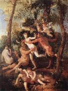 POUSSIN, Nicolas Pan and Syrinx fh oil painting