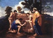 POUSSIN, Nicolas Et in Arcadia Ego af oil painting