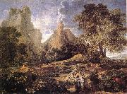 POUSSIN, Nicolas Landscape with Polyphemus af oil painting