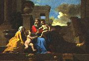 POUSSIN, Nicolas Holy Family on the Steps af oil painting