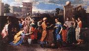 POUSSIN, Nicolas Rebecca at the Well st oil painting
