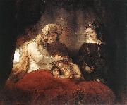 REMBRANDT Harmenszoon van Rijn Jacob Blessing the Children of Joseph oil painting reproduction