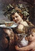 RENI, Guido The Boy Bacchus sy oil painting reproduction