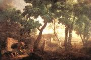 RICCI, Marco Landscape with Watering Horses oil painting reproduction