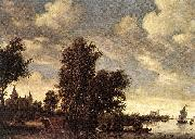 RUYSDAEL, Salomon van The Ferry Boat dh oil painting reproduction