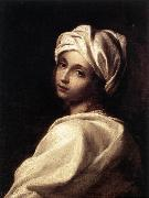 SIRANI, Elisabetta Portrait of Beatrice Cenci wr oil painting