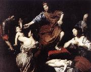 VALENTIN DE BOULOGNE The Judgment of Solomon  at oil painting reproduction